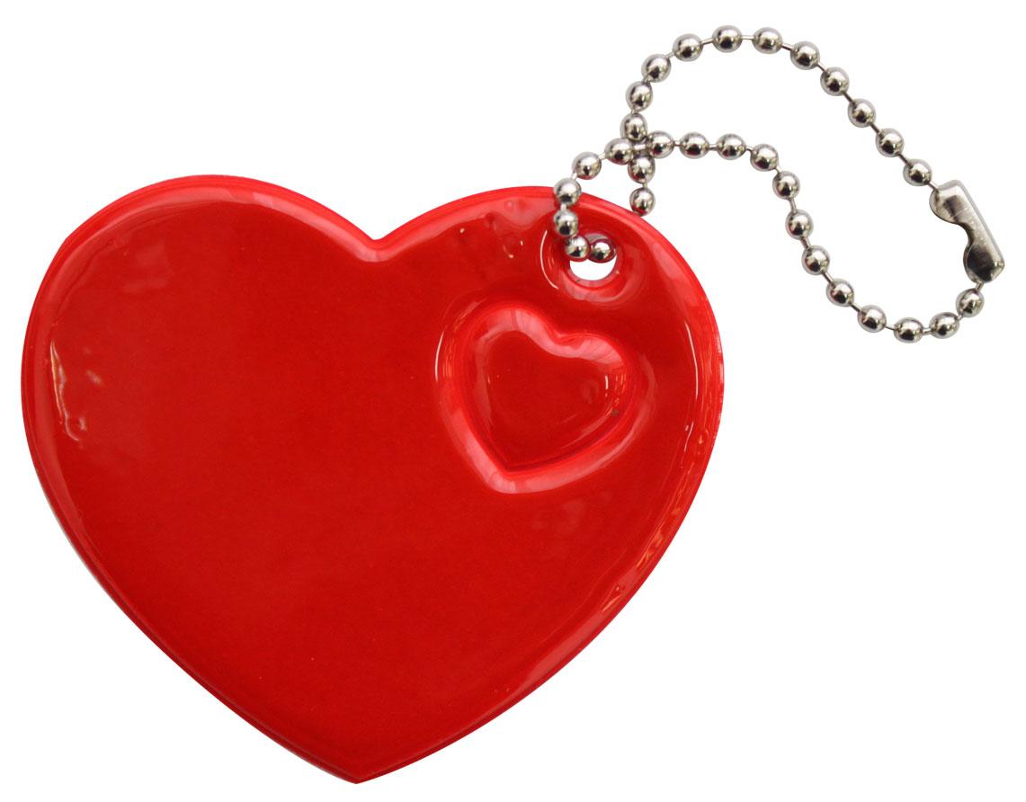 Украшение-подвеска Bestex Сердце, светоотражающее, цвет: красный, 2 шт набор шкатулок для рукоделия bestex 3 шт zw001250