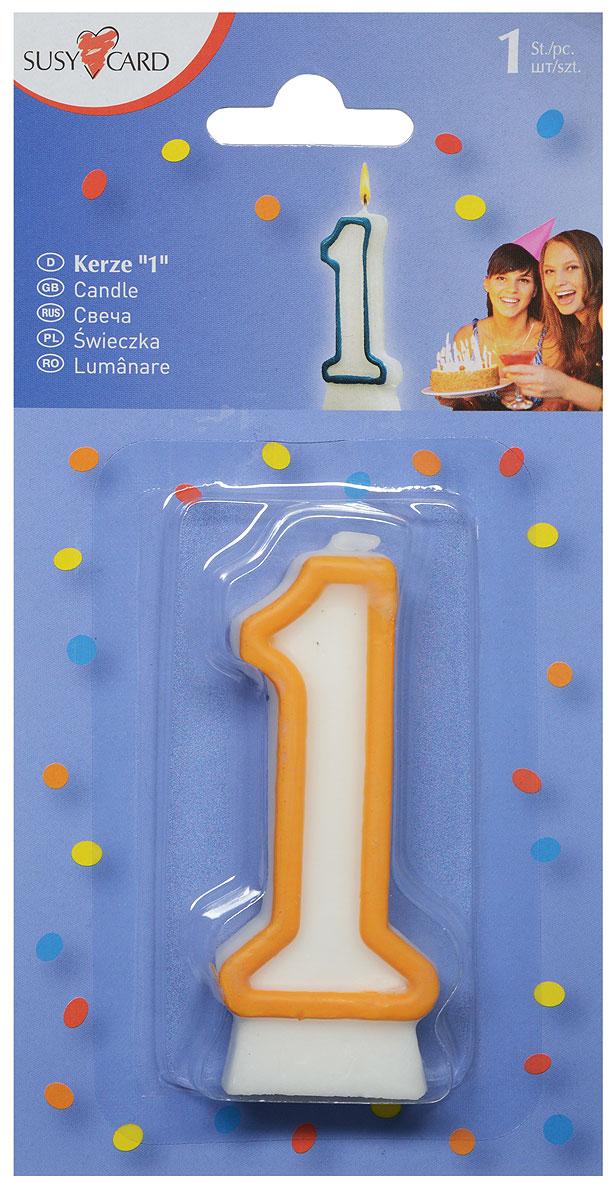 Susy Card Свеча-цифра для торта 1 год в ассортименте