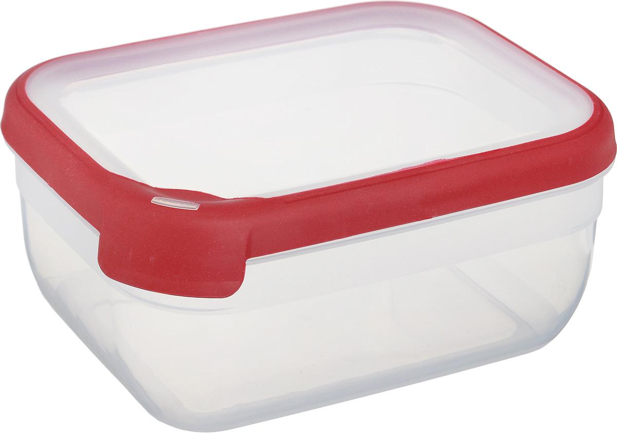 Емкость для заморозки и СВЧ Curver Grand Chef, цвет: прозрачный, бордовый, 1,8 л контейнер для продуктов curver grand chef 2 6 л серая крышка