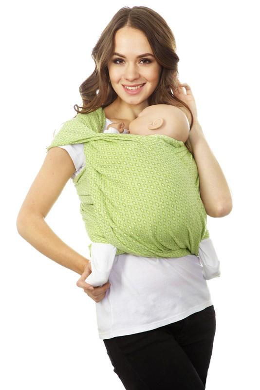 Слинг-шарф, long Mum's Era Диамант, цвет: лайм