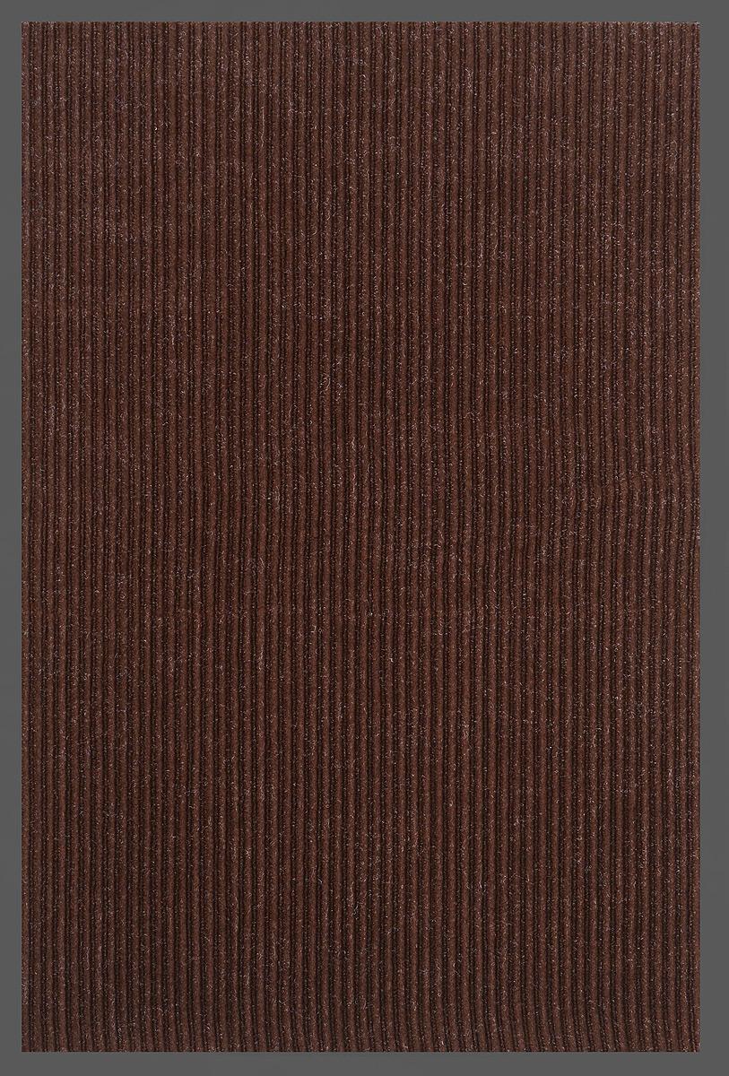 Коврик придверный SunStep Ребристый, влаговпитывающий, цвет: темно-коричневый, черный, 90 х 60 см коврик придверный sunstep spongy welcome цвет серый 90 х 60 см