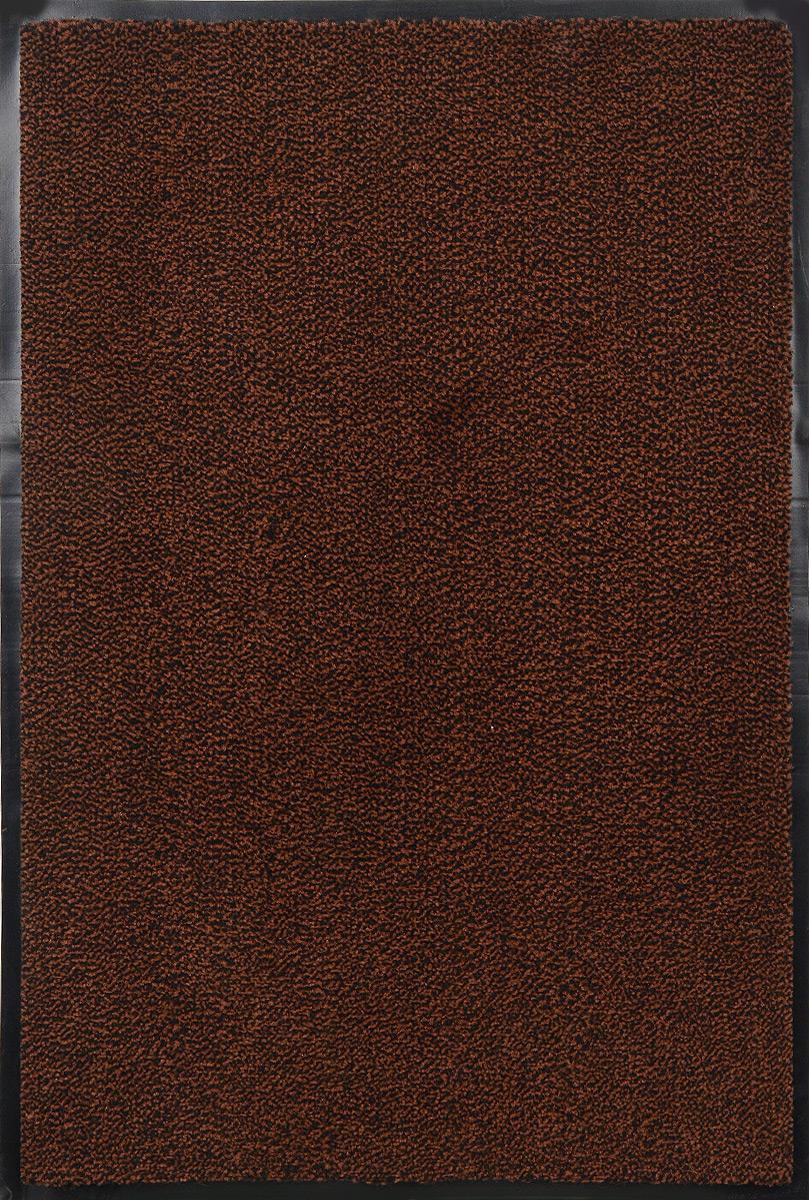 Коврик придверный SunStep Professional, влаговпитывающий, цвет: коричневый, черный, 90 х 60 см коврик придверный sunstep spongy welcome цвет серый 90 х 60 см