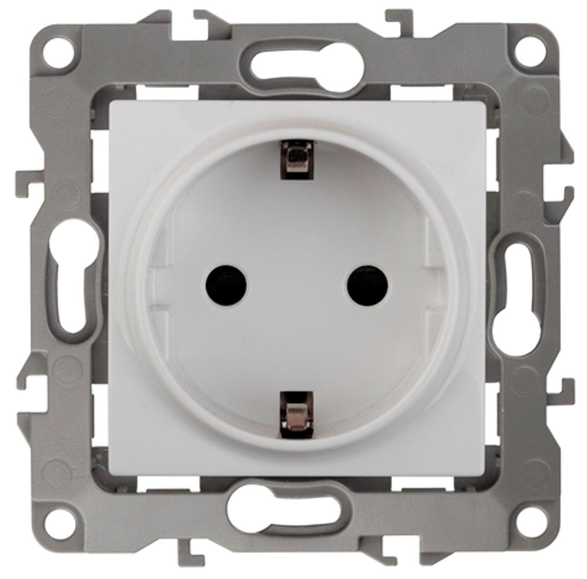 Розетка одинарная Эра, цвет: белый. 12-2101-01 с в собурь установки пожаротушения автоматические