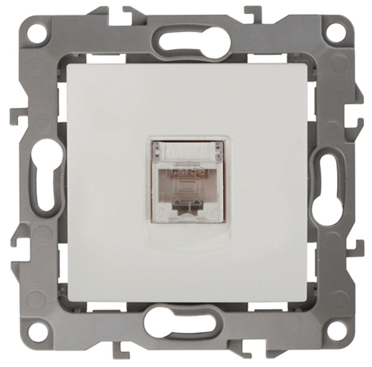 Розетка информационная Эра, цвет: белый с в собурь установки пожаротушения автоматические