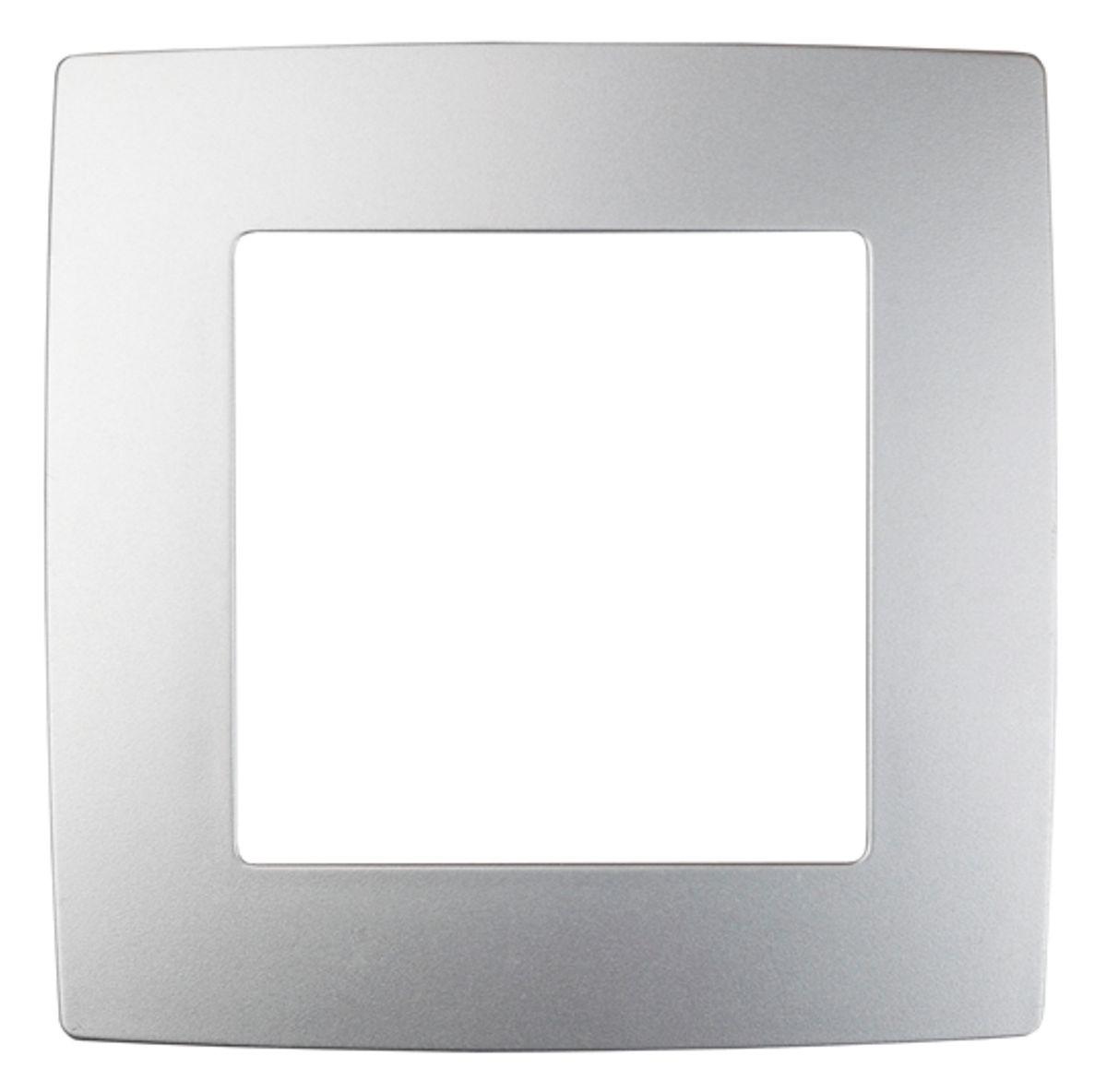 Рамка для встраиваемой розетки Эра, на 1 пост, цвет: алюминий