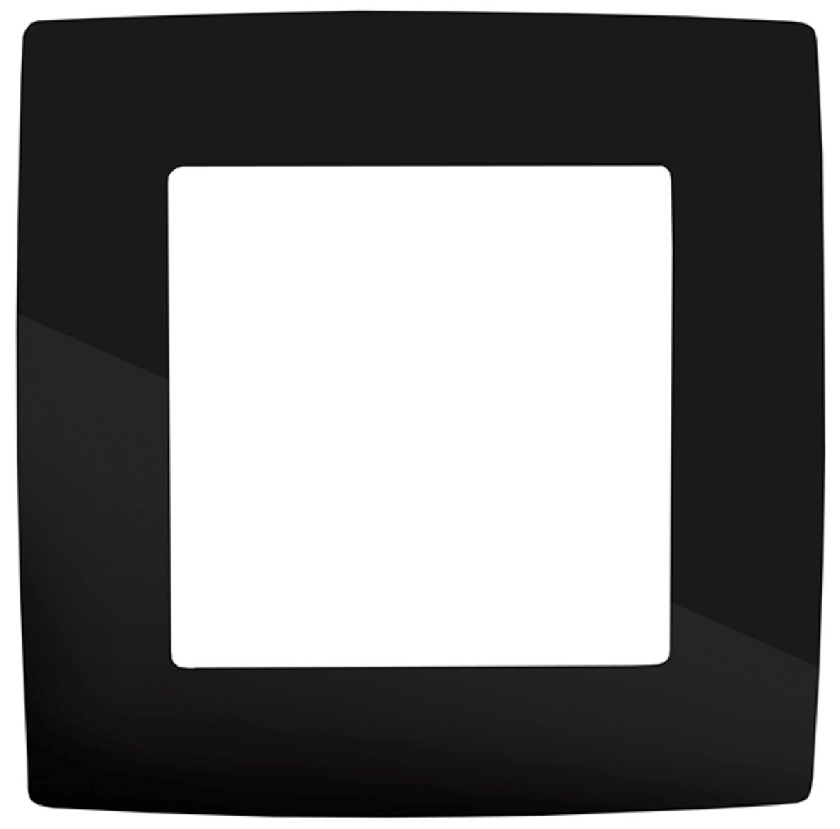 Рамка для встраиваемой розетки Эра, на 1 пост, цвет: черный