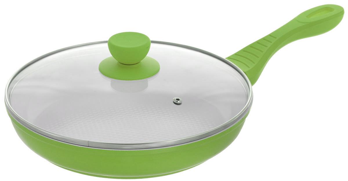 """Сковорода """"Bohmann"""" с крышкой, с керамическим покрытием, цвет: зеленый. Диаметр 26 см. 7026BH/WC"""