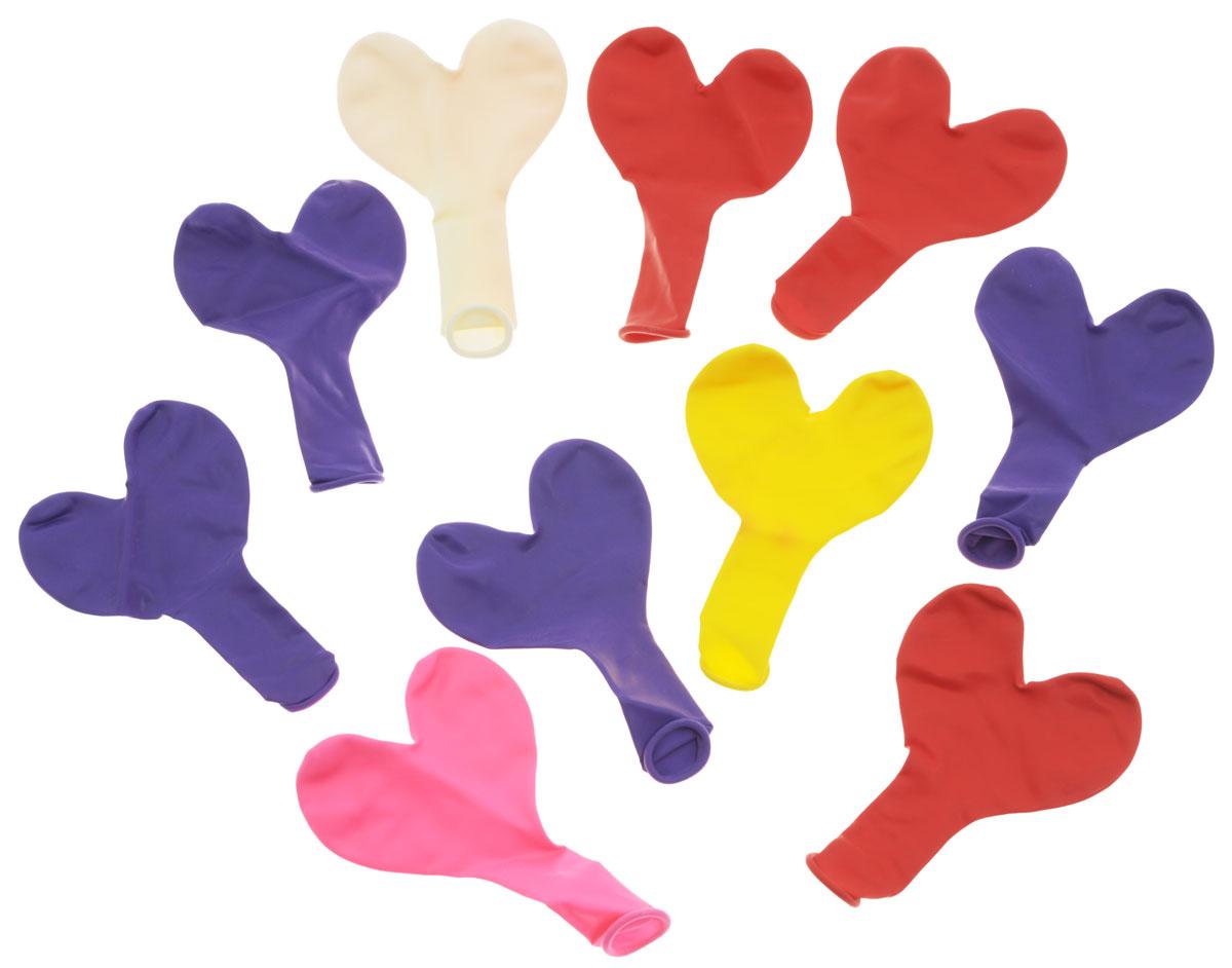 Action! Шары воздушные Сердечки цвет мультиколор 10 шт