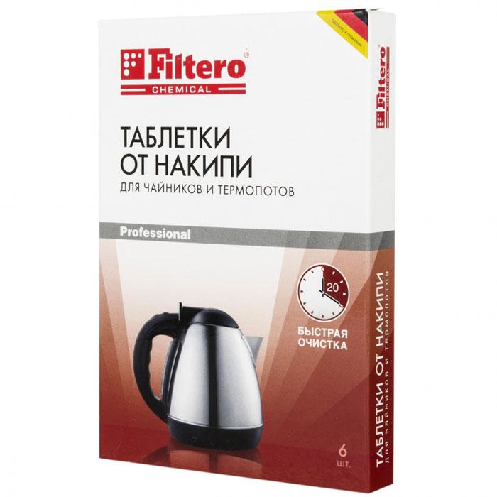 Filtero Таблетки для очистки чайников от накипи, 6 шт
