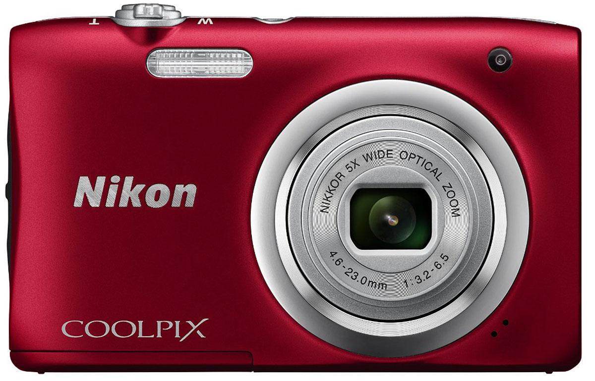 Компактный фотоаппарат Nikon CoolPix A100, Red