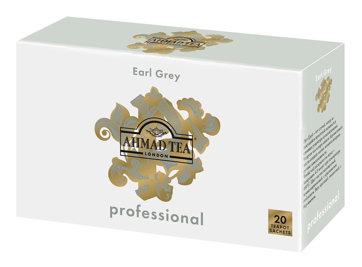 Ahmad Tea Professional Эрл Грей чай черный листовой с бергамотом в фильтр-пакетах для заваривания в чайнике, 20 шт ahmad tea professional эрл грей чай черный листовой с бергамотом в фильтр пакетах для заваривания в чайнике 20 шт