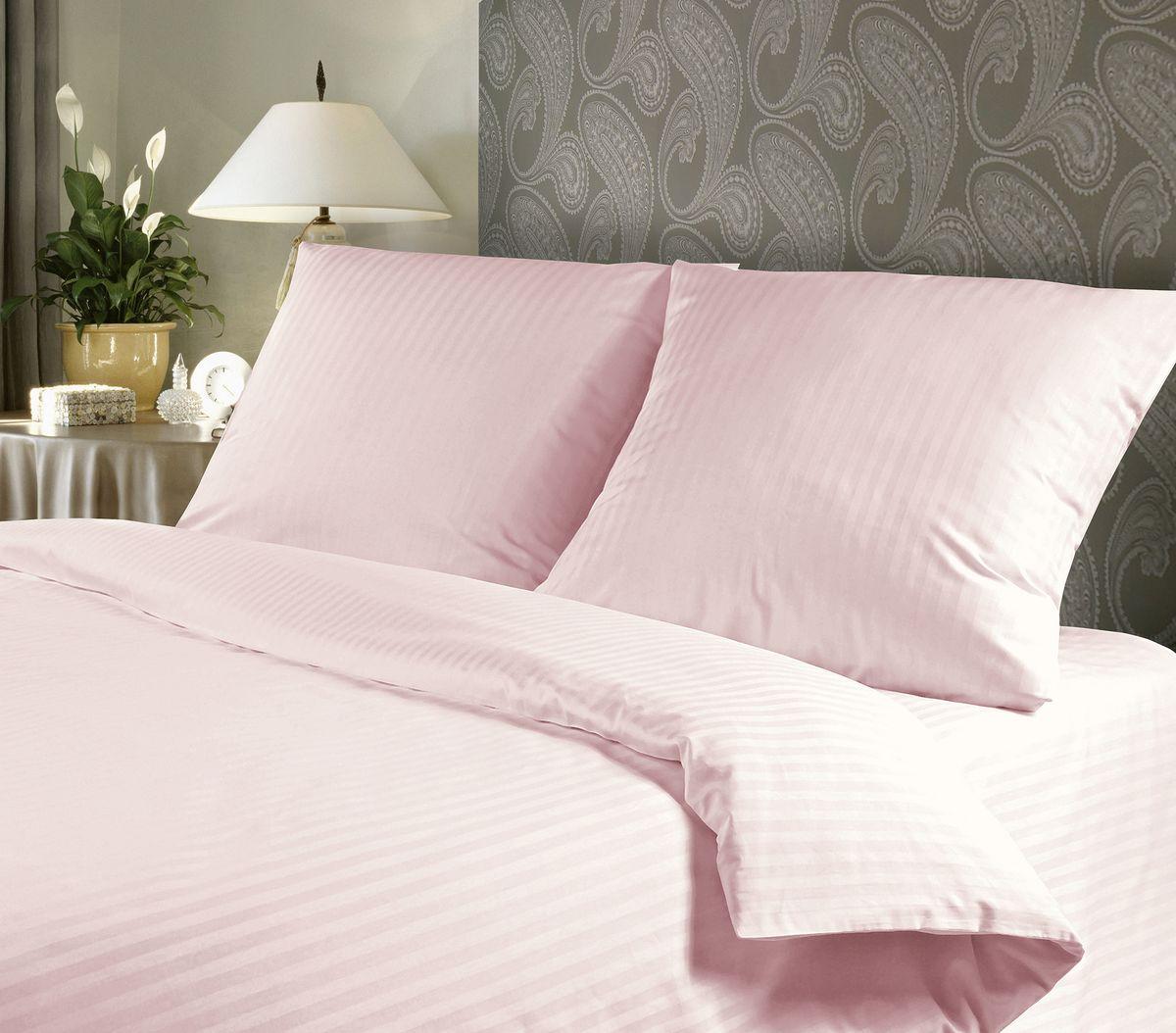 """Комплект белья """"Verossa"""", 1,5-спальный, наволочки 70х70, цвет: розовый"""