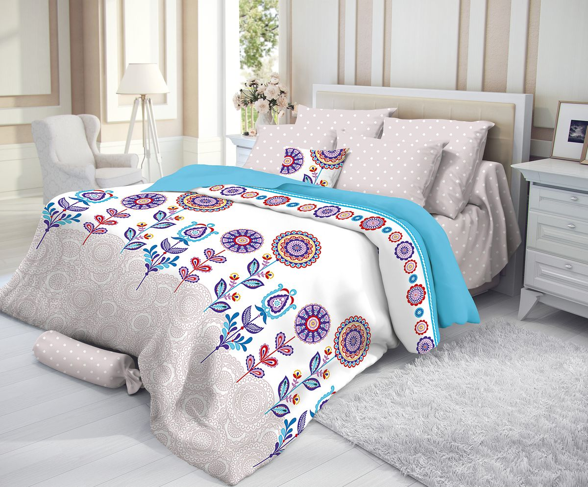 """Комплект белья """"Verossa"""", 1,5-спальный, наволочки 50х70, цвет: мультиколор"""