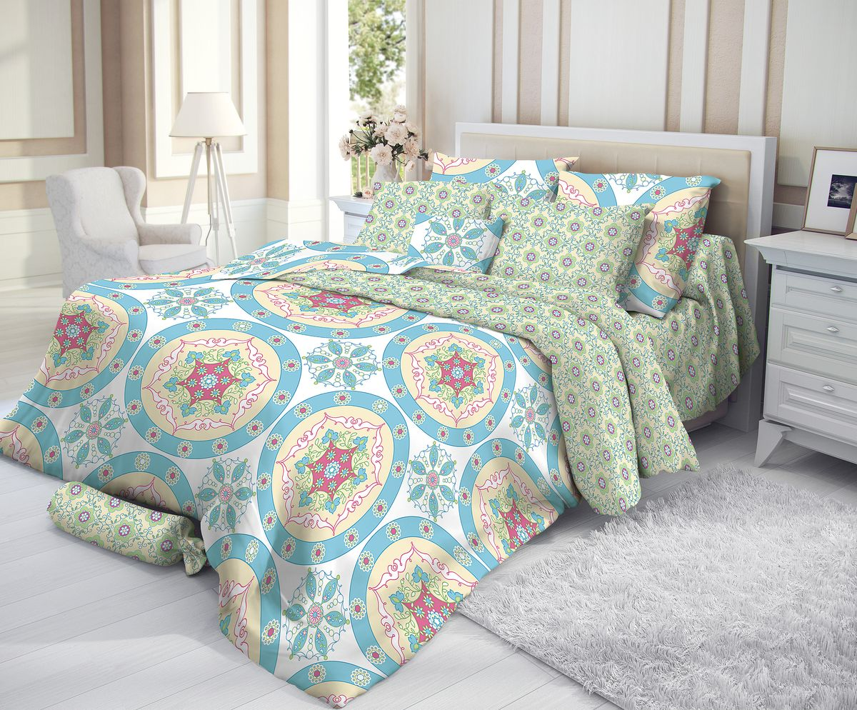 """Комплект белья """"Verossa"""", 1,5-спальный, наволочки 50х70, цвет: голубой"""