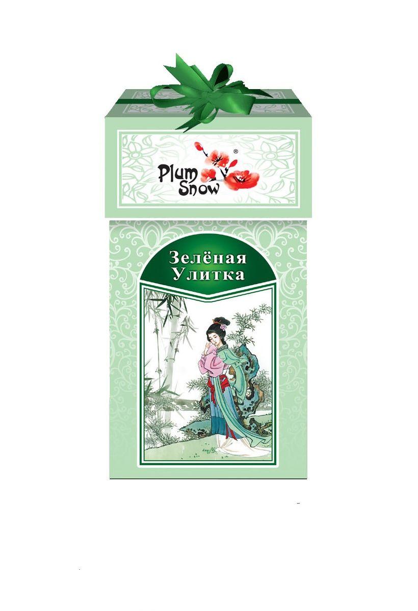 Plum Snow Зеленая улитка зеленый листовой чай, 100 г цена