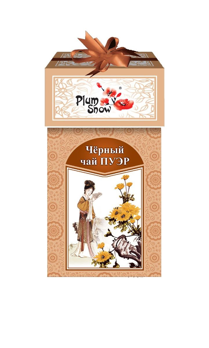 Plum Snow черный листовой чай пуэр, 100 г цена в Москве и Питере