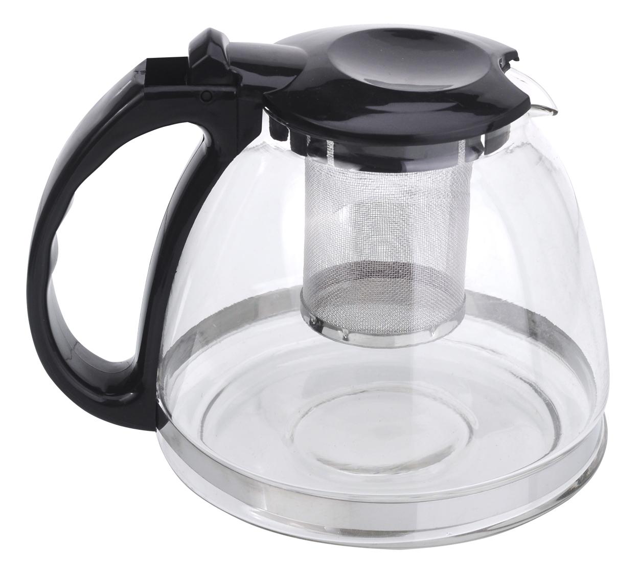 Чайник заварочный МФК-профит, с фильтром, цвет: черный, 1,3 л чайник заварочный мфк профит белла 900 мл