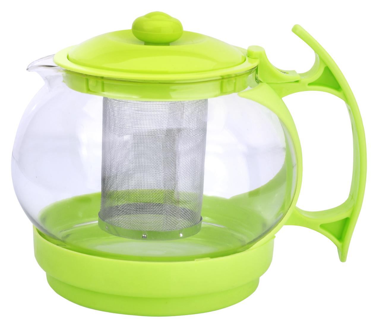 Чайник заварочный МФК-профит, с фильтром, цвет: зеленый, 1,1 л чайник заварочный мфк профит белла 900 мл