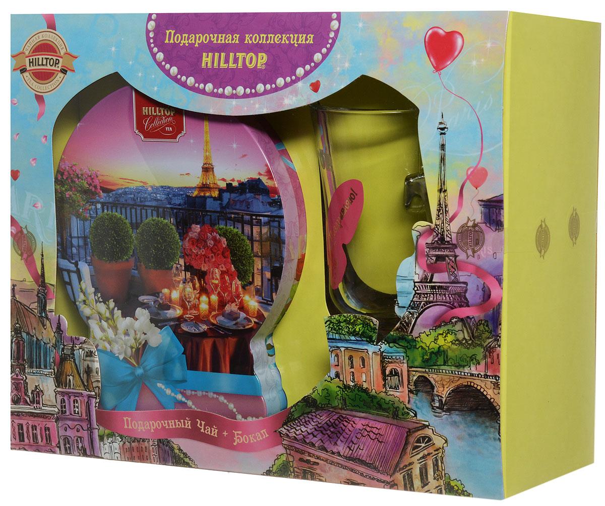 Фото - Hilltop Романтический вечер. Подарок Цейлона черный листовой чай, 100 г (подарочный набор с бокалом) hilltop романтический пейзаж подарочный набор 3 шт по 50 г