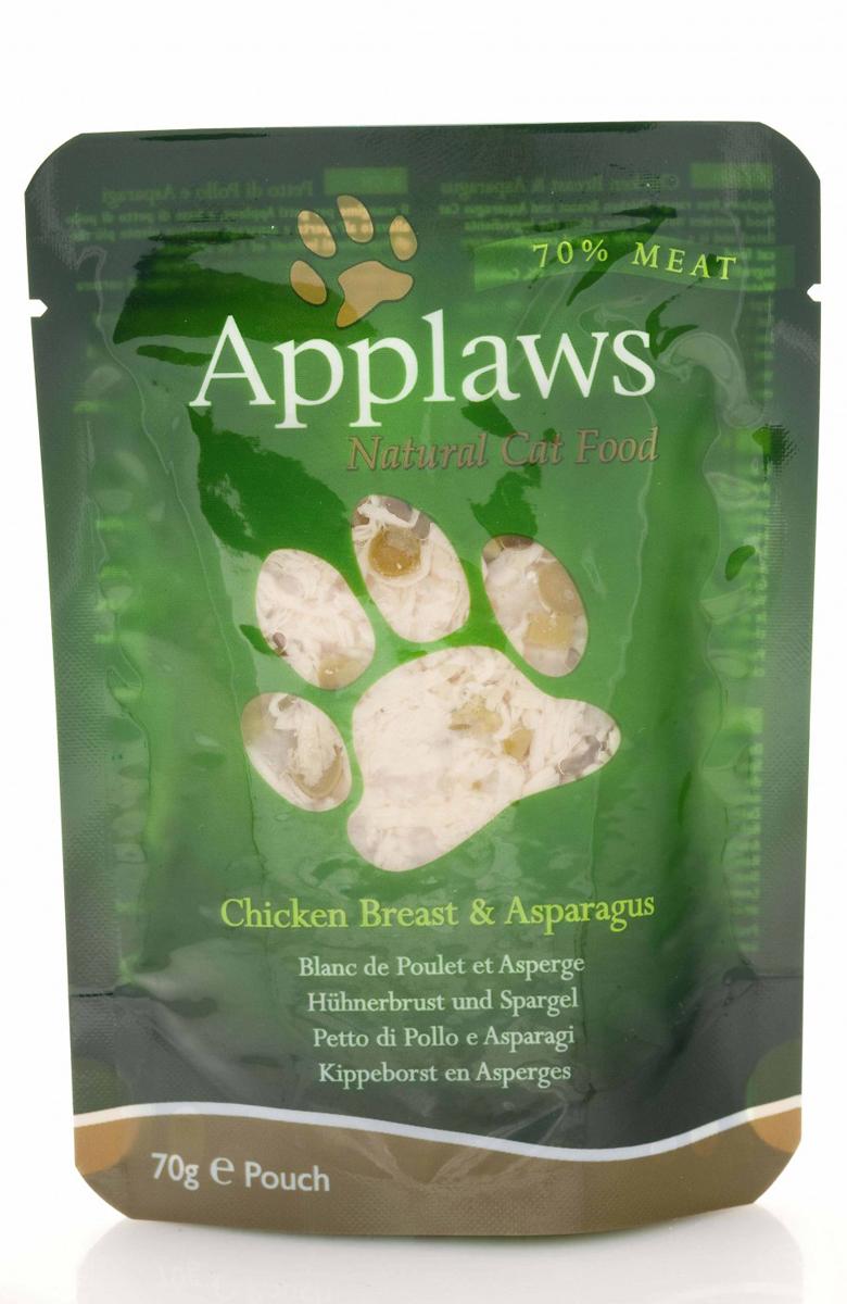 Консервы для кошек Applaws, с курицей и спаржей, 70 г корм для кошек applaws отзывы