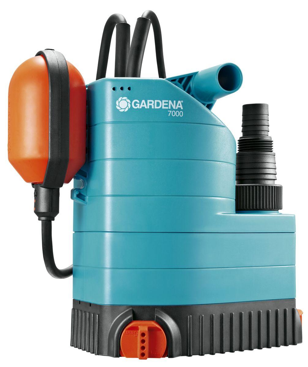 Насос дренажный Gardena 7000 Classic, для чистой воды набор фитингов для подключения насоса 1