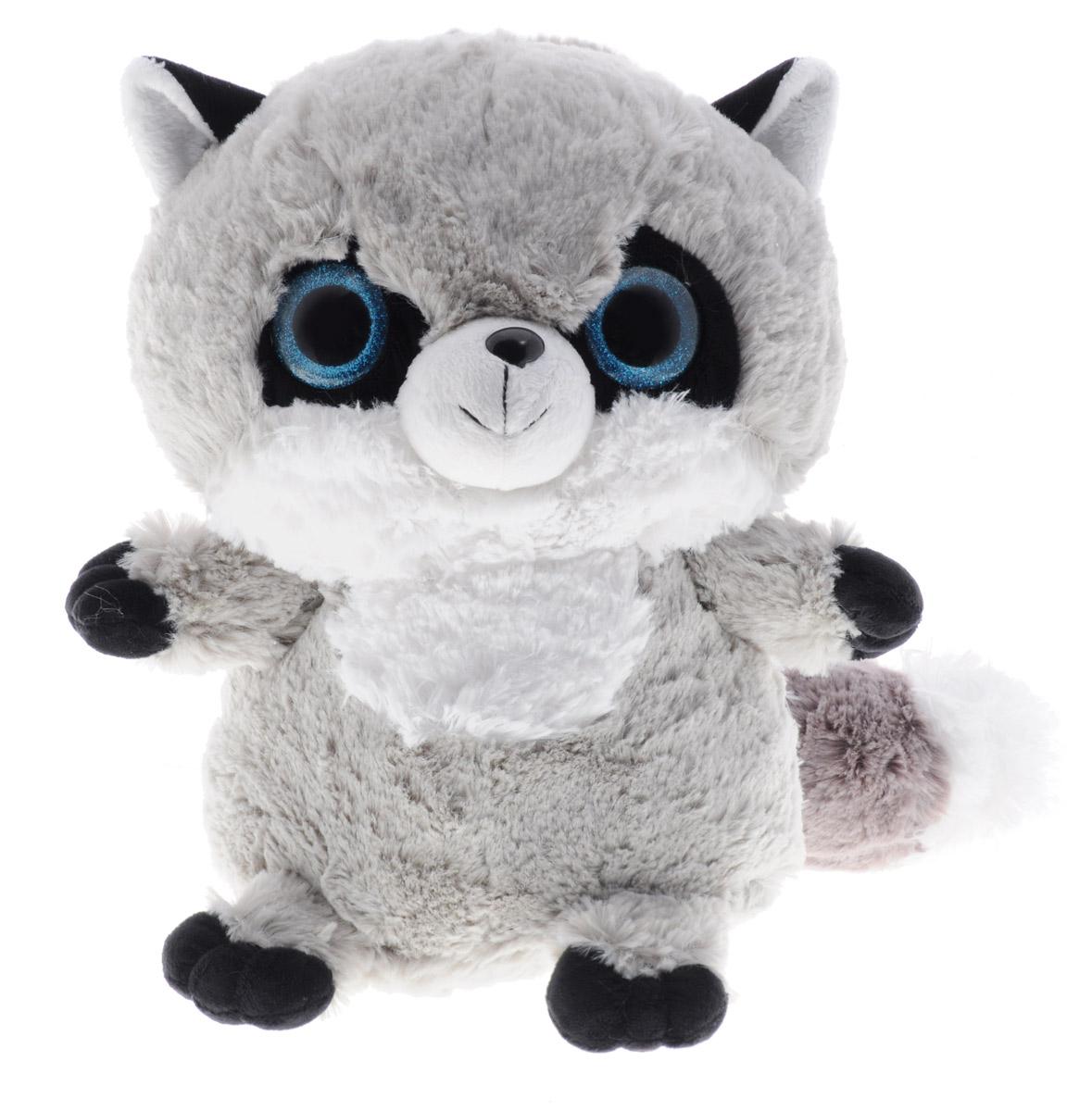 СмолТойс Мягкая игрушка Енотик цвет серый 30 см