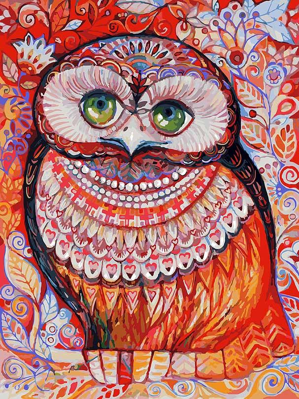 Живопись на холсте Белоснежка Медовая сова, 30 х 40 см набор для творчества белоснежка живопись на холсте 30 40см щенки на поляне