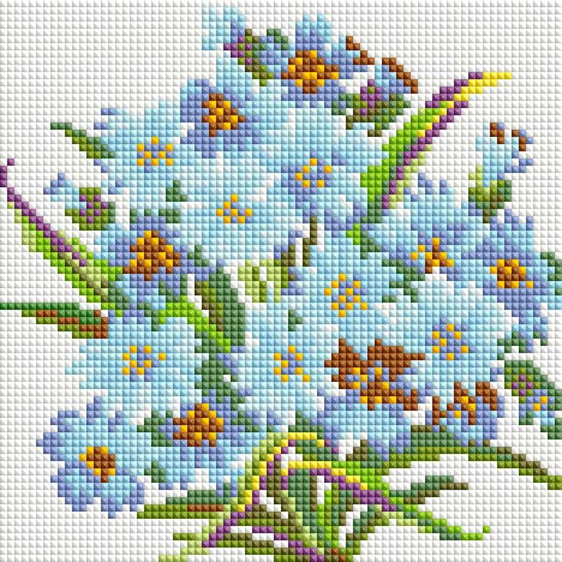 Набор для создания мозаики Белоснежка Букет Нежность белоснежка алмазная мозаика белоснежка букет маков 30х40 см