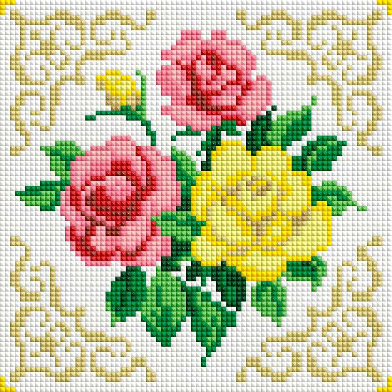 Набор для создания мозаики Белоснежка Маленькие розочки набор для создания мозаики белоснежка бушующая стихия