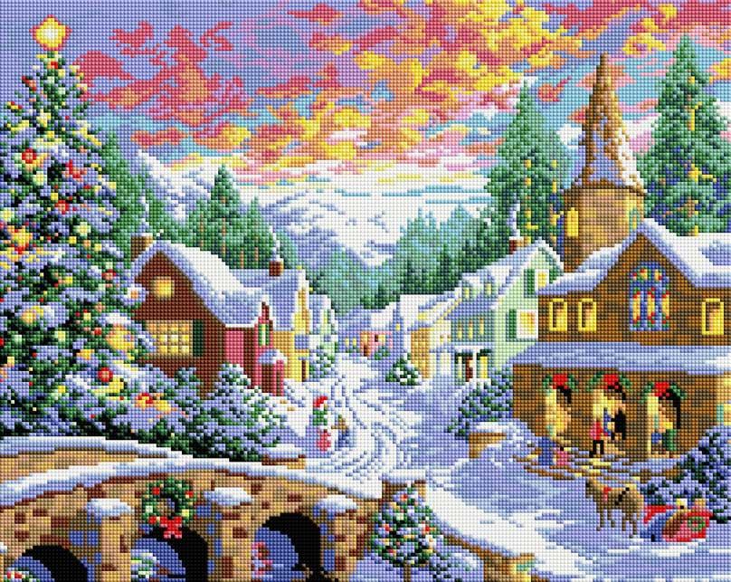 Набор для создания мозаики Белоснежка Рождественская ночь, 40 х 50 см набор для создания мозаики белоснежка бушующая стихия