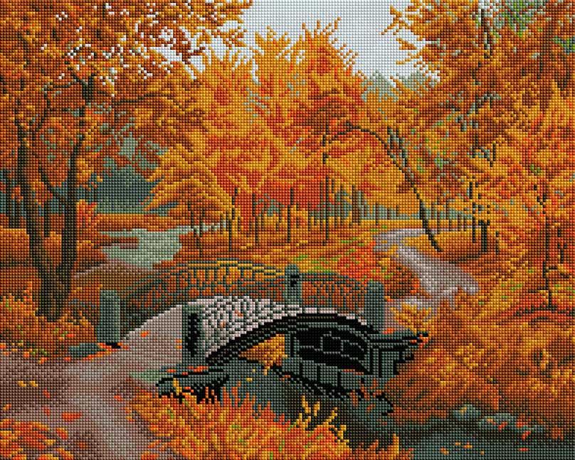 Набор для создания мозаики Белоснежка Осенний парк, 40 х 50 см набор для создания мозаики белоснежка бушующая стихия