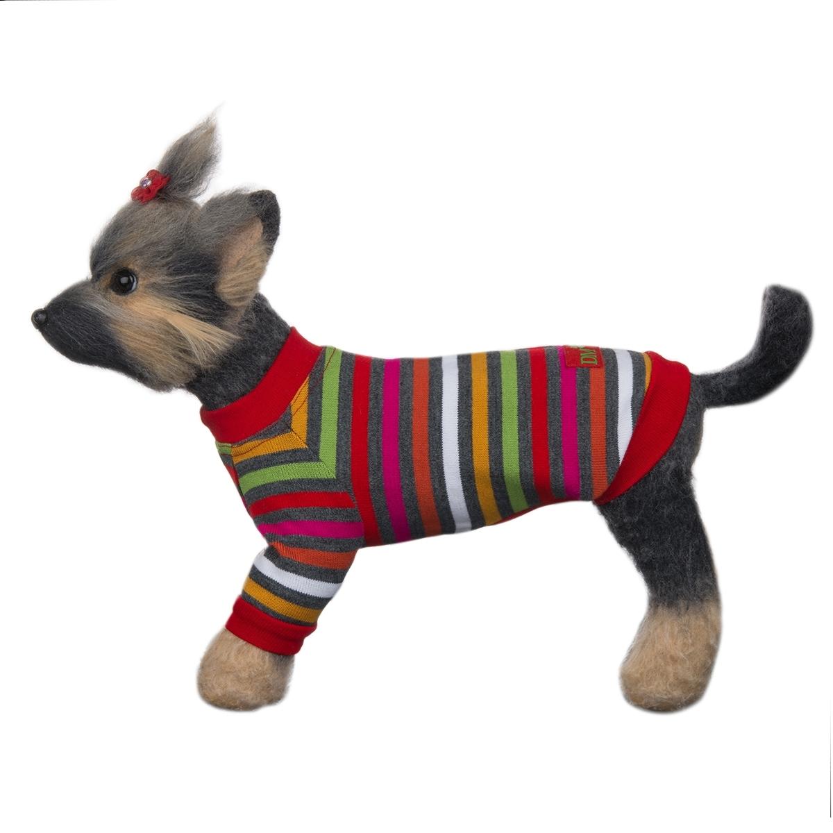 """Пуловер для собак Dogmoda """"Досуг"""", унисекс, цвет: красный, зеленый, черный. Размер 4 (XL)"""