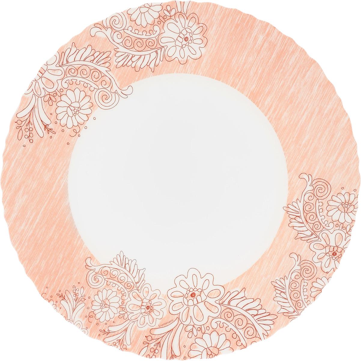 Тарелка обеденная Luminarc Minelly Pink, диаметр 25 см тарелка обеденная luminarc sofiane blue 25 25 см page 3