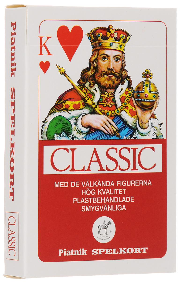 Игральные карты Piatnik Профессиональные Classic, 55 листов, цвет: красный,1458_красный красный карты игральные профессиональные piatnik rosette 56 карт