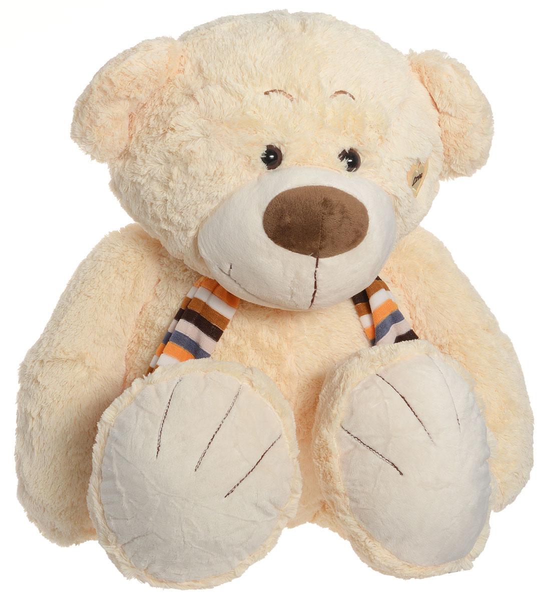 Magic Bear Toys Мягкая игрушка Медвежонок в шарфе цвет молочный 53 см