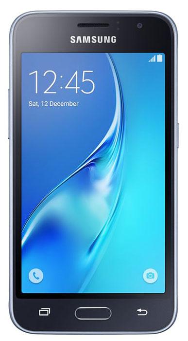 Смартфон Samsung Galaxy J1 2016 1/8GB, черный смартфон samsung galaxy j1 2016 8 гб черный sm j120fzkdser