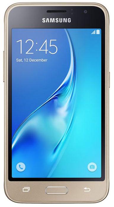 Смартфон Samsung Galaxy J1 2016 1/8GB, золотистый смартфон samsung galaxy j1 2016 8 гб золотистый sm j120fzddser