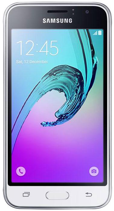 Смартфон Samsung Galaxy J1 2016 1/8GB, белый смартфон samsung galaxy j1 2016 8 гб золотистый sm j120fzddser