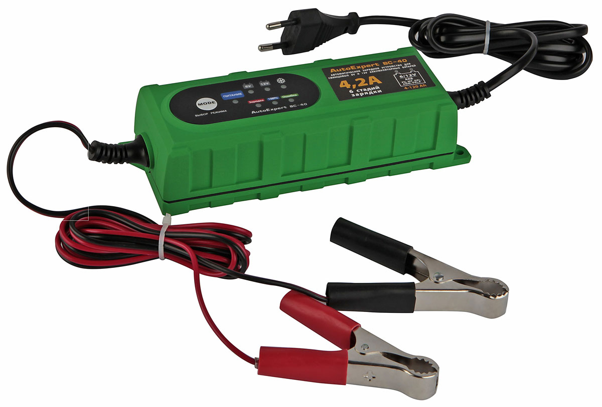 AutoExpert BC 40, Green зарядное устройство для АКБ автомобиля