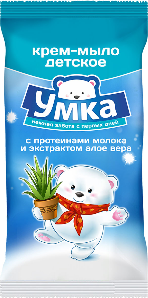 Умка Крем-мыло детское с протеинами молока и экстрактом алоэ вера 80 г
