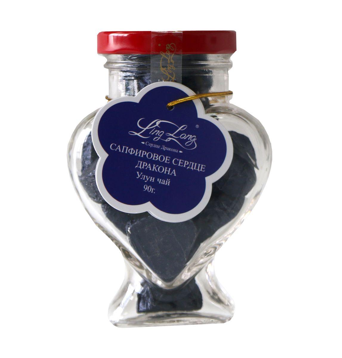 Ling Long Сапфировое сердце дракона листовой чай улун, 90 г (стеклянная банка)
