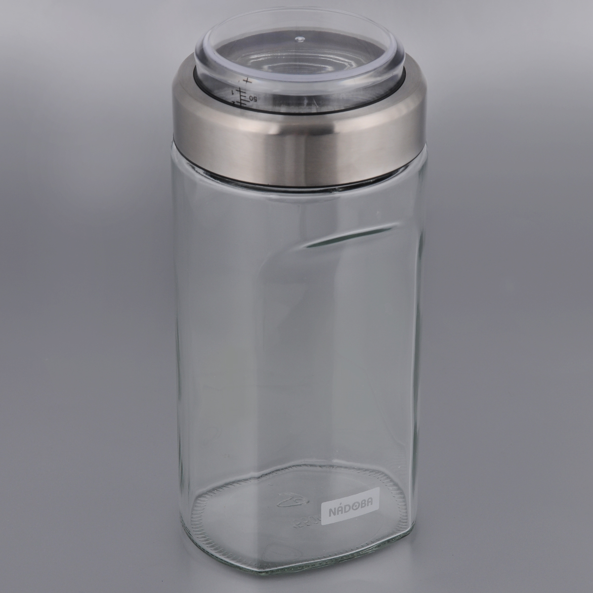 Емкость для сыпучих продуктов Nadoba Petra, с мерным стаканом, 1,15 л емкость для сыпучих продуктов с мерным стаканом nadoba otina