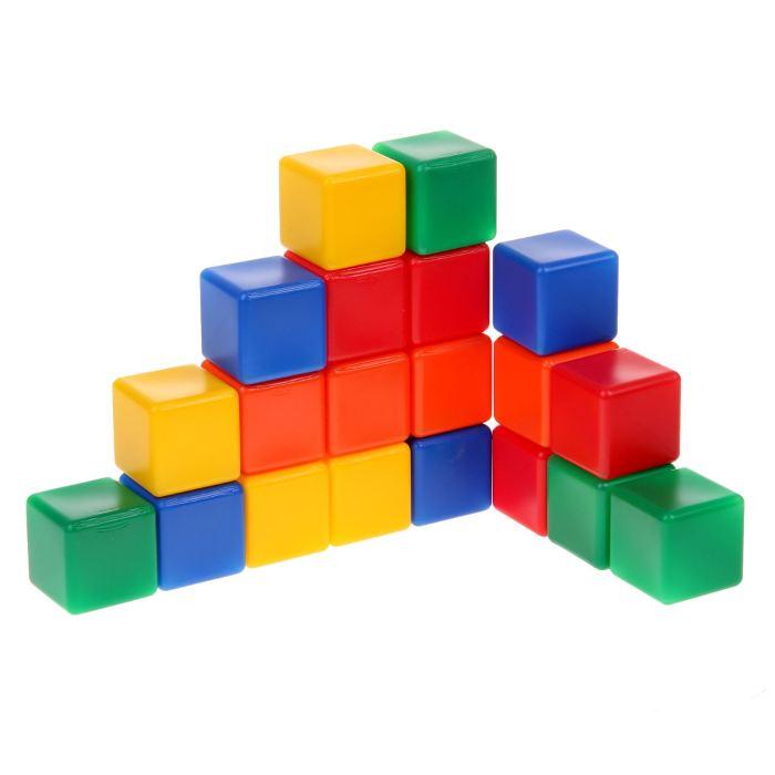 Крошка Я Кубики цветные 20 шт 1200606