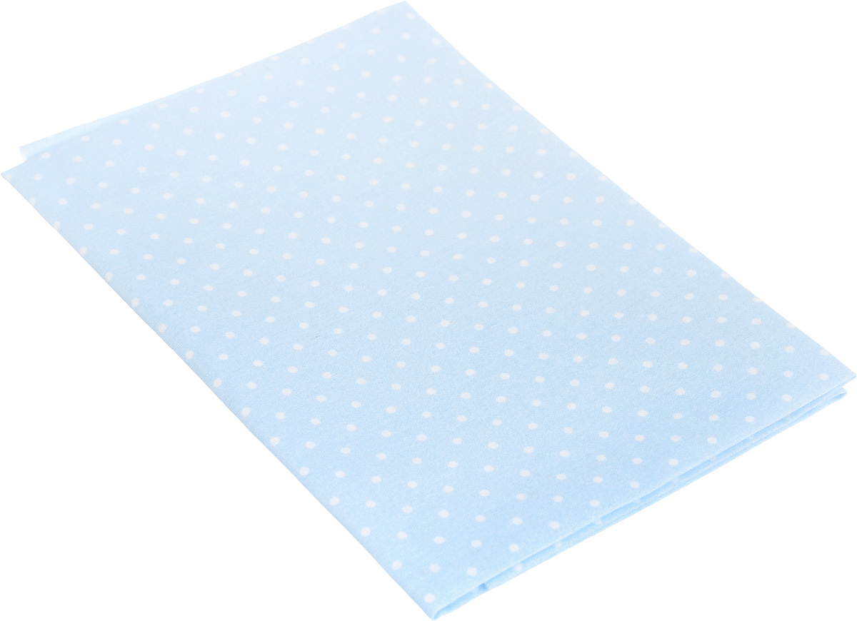 Ткань для пэчворка Артмикс Горошек, цвет: голубой, белый, 48 х 50 см сколько ткани нужно для пошива 2 х спального комплекта