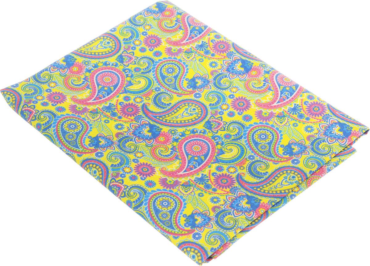 "Ткань для пэчворка Артмикс ""Пейсли"", цвет: желтый, синий, розовый, 48 х 50 см"