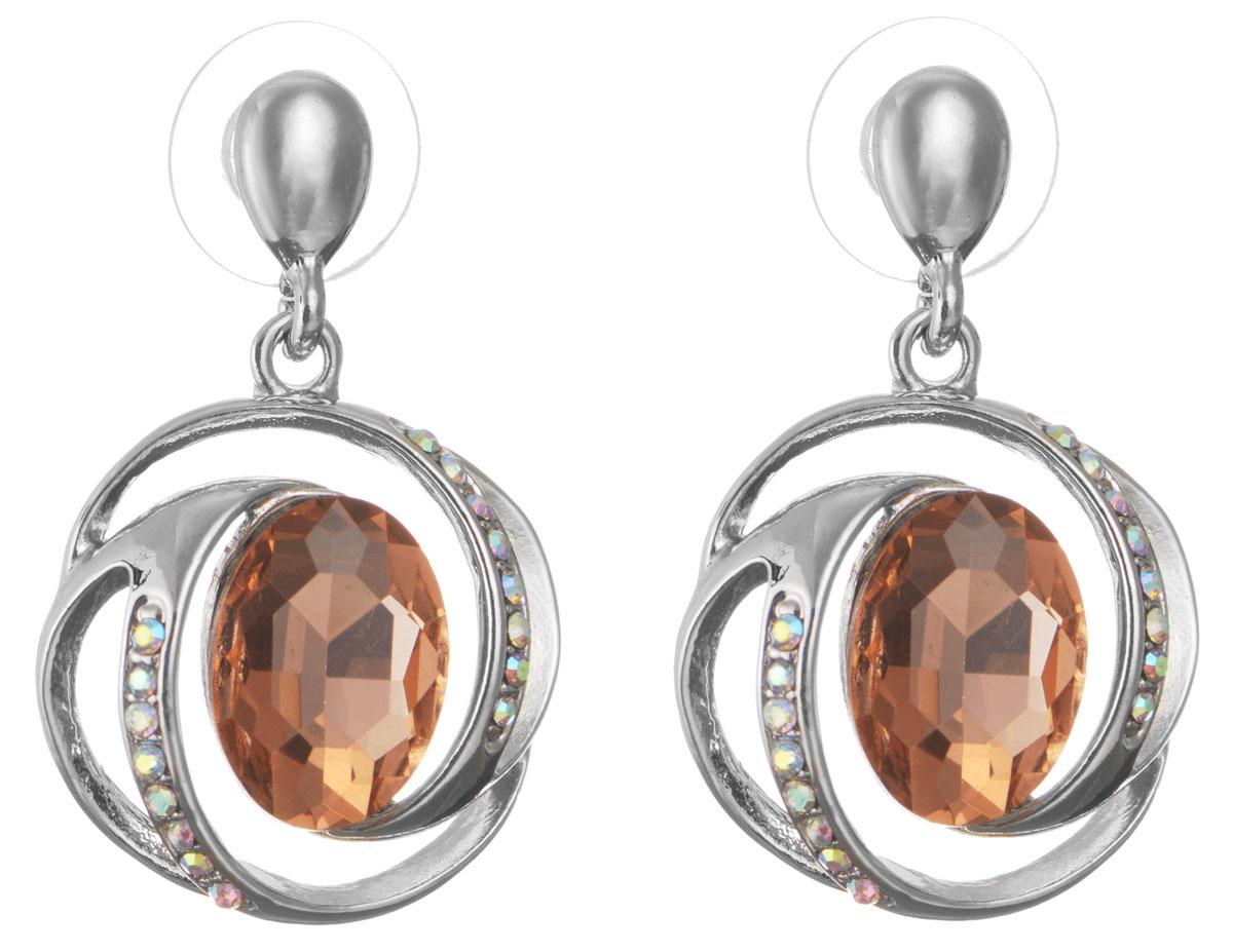 Серьги Taya, цвет: серебристый, персиковый. T-B-10706-EARR-SL.ROSE серьги taya цвет серебристый персиковый t b 10706 earr sl rose