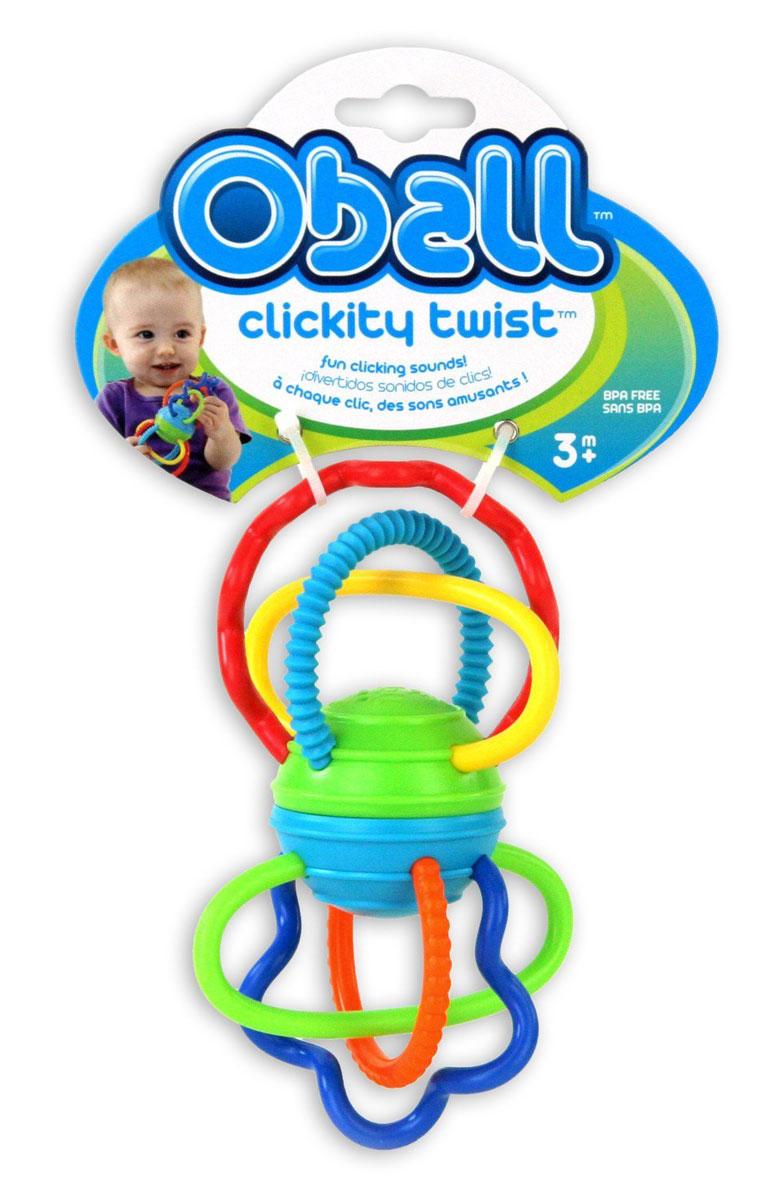 Oball Развиващая игрушка-прорезыватель Разноцветная гантелька