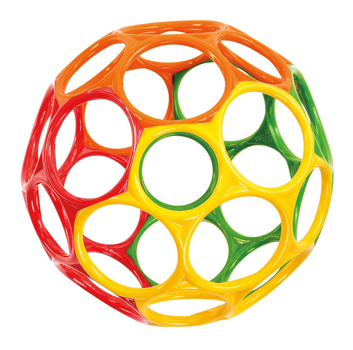 Oball Развивающая игрушка Мячик цвет красный зеленый желтый oball развивающая игрушка twist o round