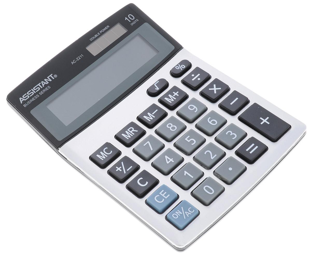 Фото - Assistant Калькулятор AC-2211 10-разрядный калькулятор настольный assistant ac 2488 14 разрядный ac 2488