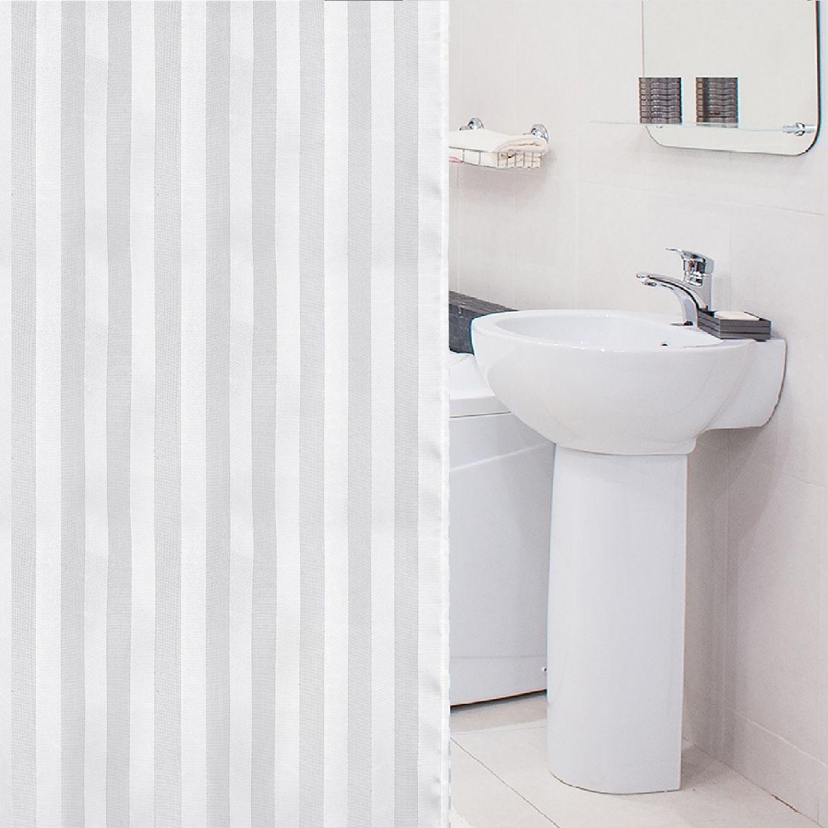 Фото - Штора для ванной комнаты Tatkraft Harmony, с кольцами, 180 х 180 см штора для ванной комнаты tatkraft stone garden 180 х 180 см